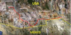 Phoenix to El Paso Map