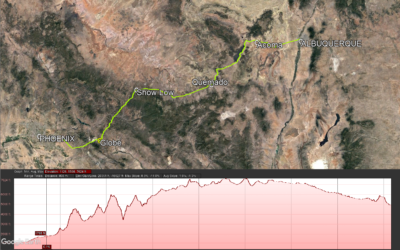 Phoenix AZ to Albuquerque NM Bike Ride